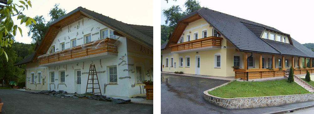 Fassade vorher nachher  Vorher / Nachher Referenzen